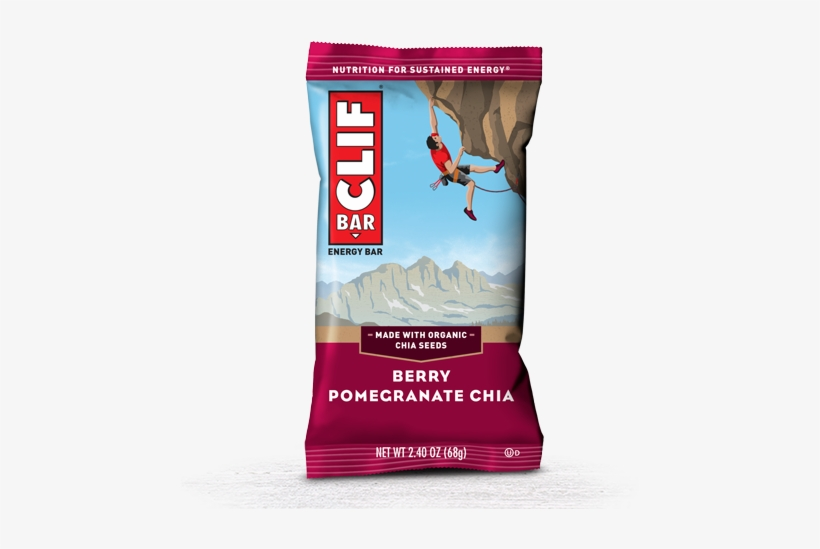 Berry Pomegranate Chia Packaging - Clif Bar Peanut Butter Chocolate, transparent png #1395672