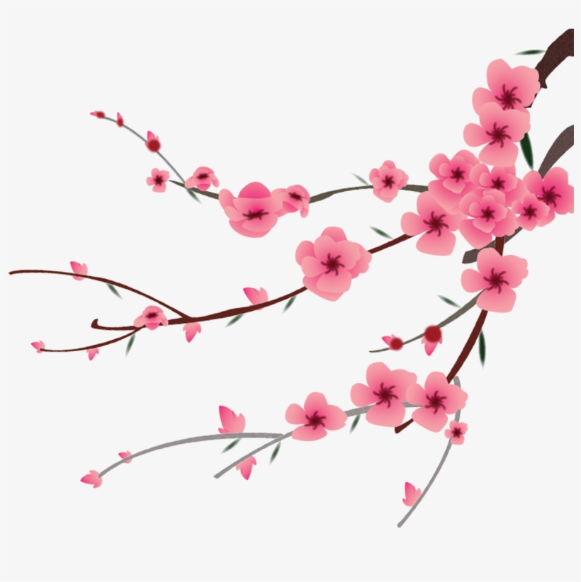 Petal Flower Hand Painted - Peach Blossom Flower Peach Png, transparent png #1397621