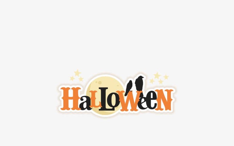 Halloween Title Svg Scrapbook Title Svg Cutting Files - Halloween Title, transparent png #1397716