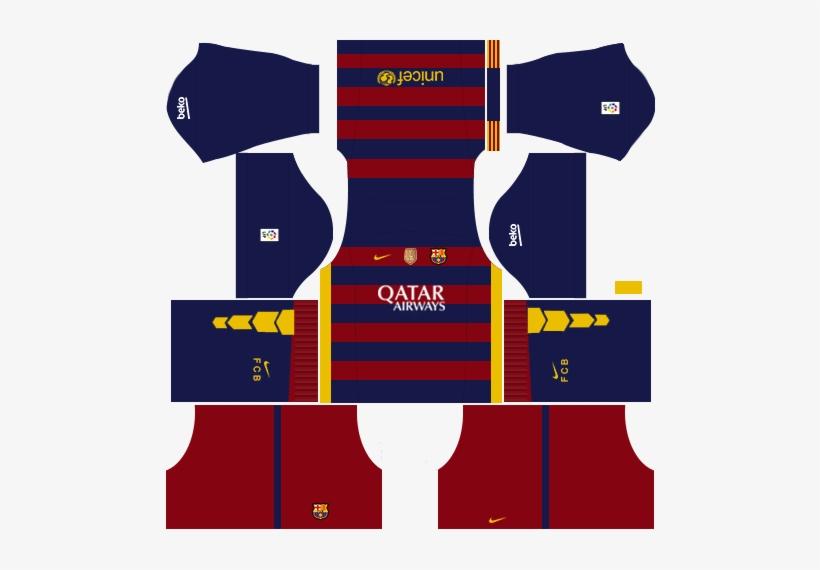 ffca25c16f1 Kit Barcelona Dls16 Uniforme Casa 15 - Dream League Soccer 2018 Kits ...
