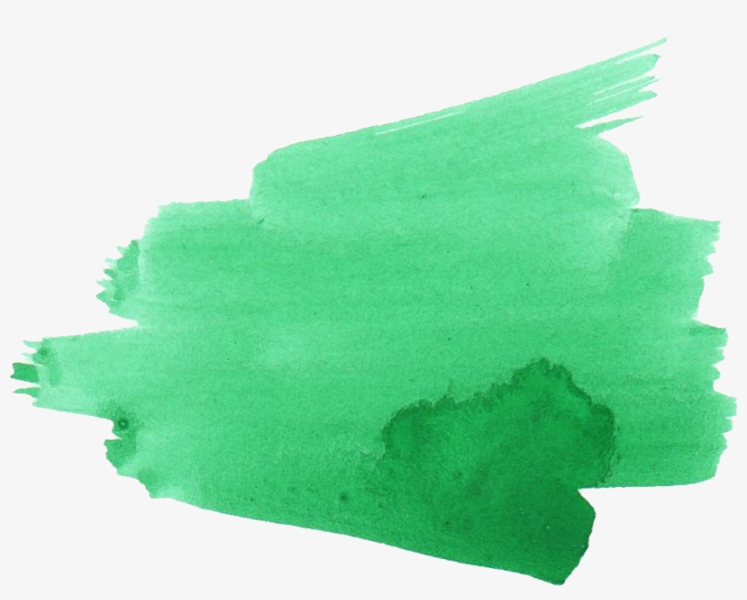 Green Brush Png - Green Brush Stroke Png, transparent png #140244