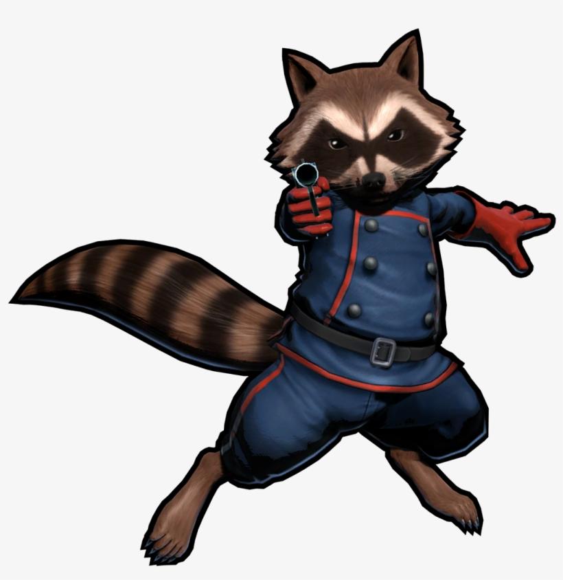 Rocket Raccoon - Rocket Raccoon Marvel Vs Capcom 3, transparent png #140450