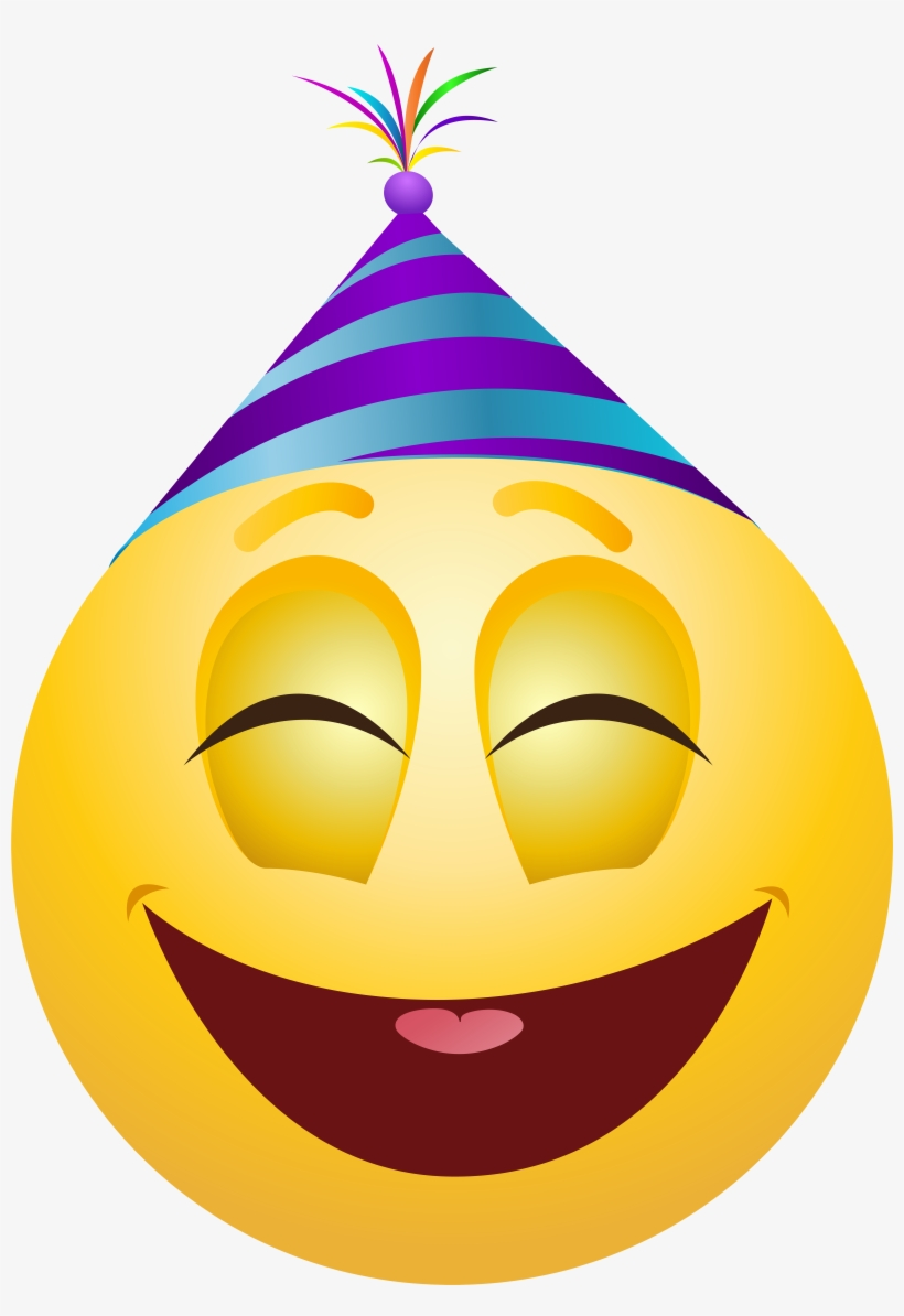 Party Emoticon Png Clip Art - Emoji Party Png - Free