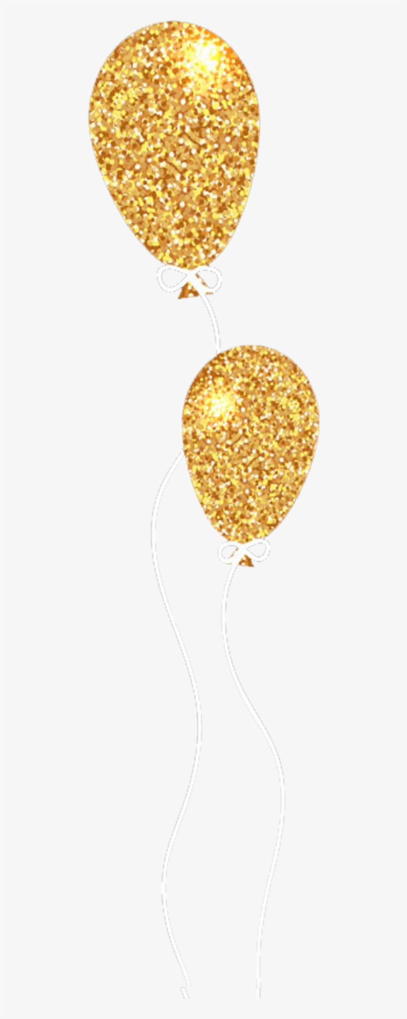 Report Abuse - Gold Glitter Balloon Png, transparent png #141915