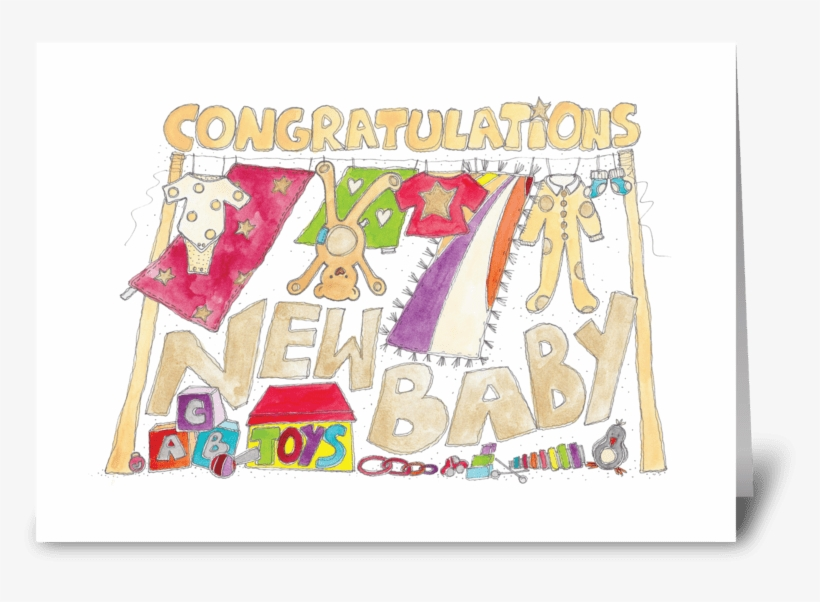 Baby Karte.New Baby Greeting Card Gluckwunsche Neues Baby Karte