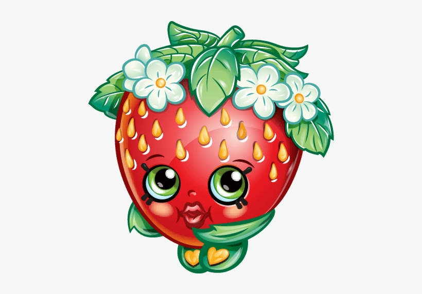Shopkins Strawberry Png Graphic Free Stock - Shopkins Strawberry Kiss, transparent png #142188