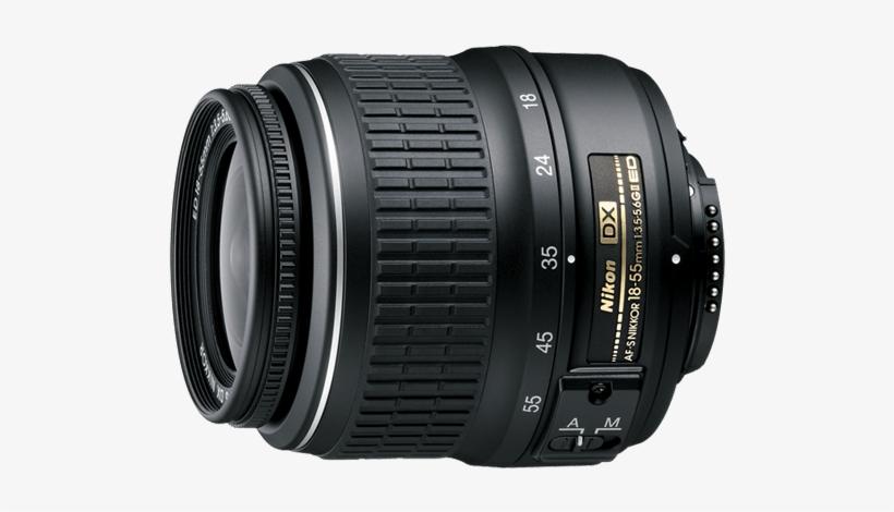 18-55mm Kit Lens - Nikon 18-55mm F3.5-5.6 Af-p Dx Nikkor Lens, transparent png #142348