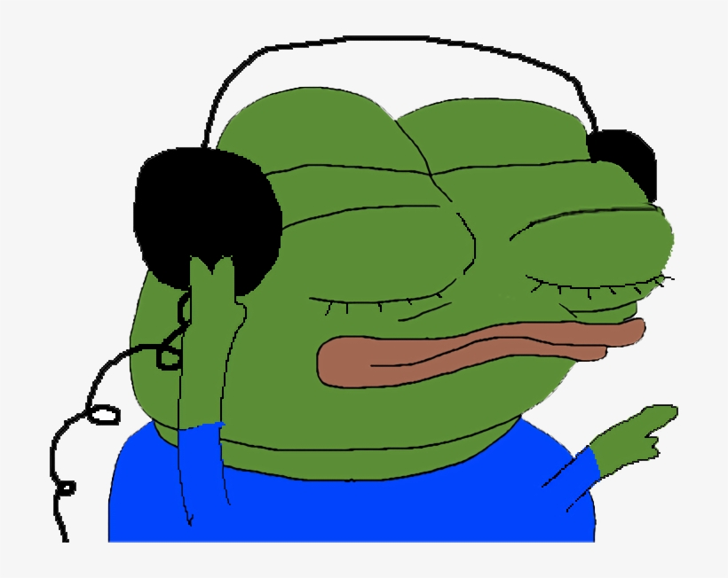 Pepe - Pepe Listening To Music, transparent png #142664