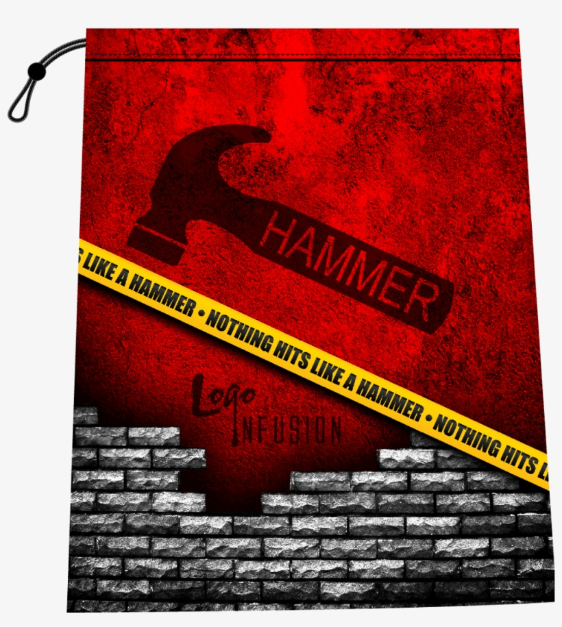 Hammer -caution Tape - Broken Brick Wall Black, transparent png #142708