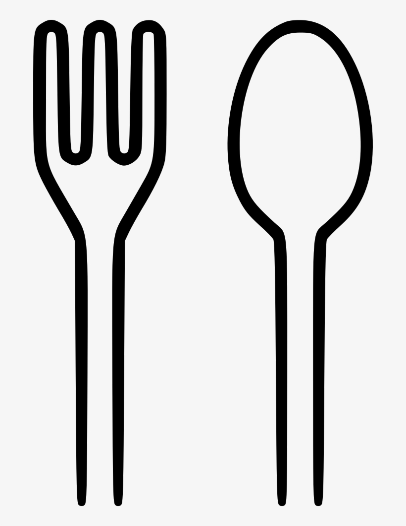Spoon Fork Png - Spoon And Fork Clipart Black And White, transparent png #142782
