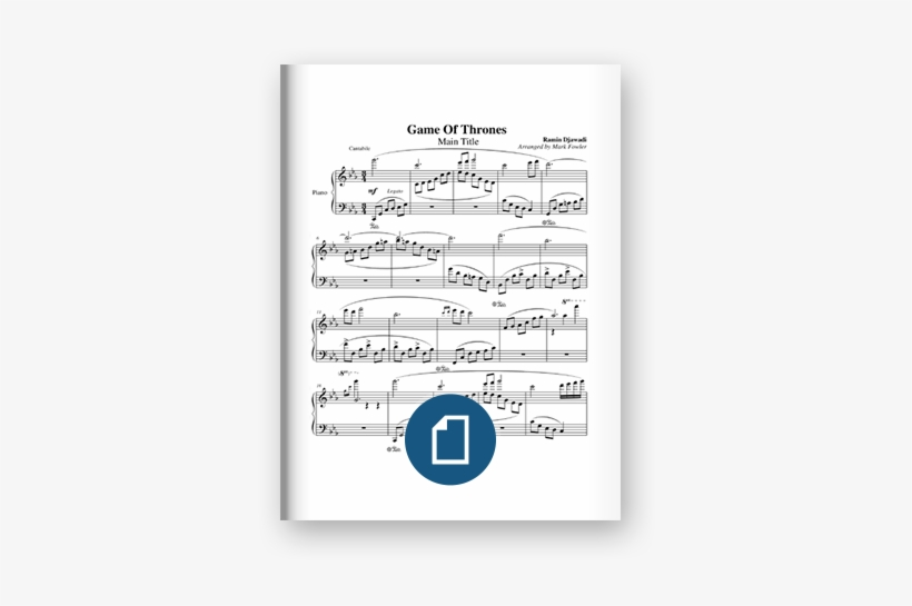 Game Of Thrones Main Theme Sheet Music On Scribd - Ice And Fire Sheet Music Game Of Thrones, transparent png #143181