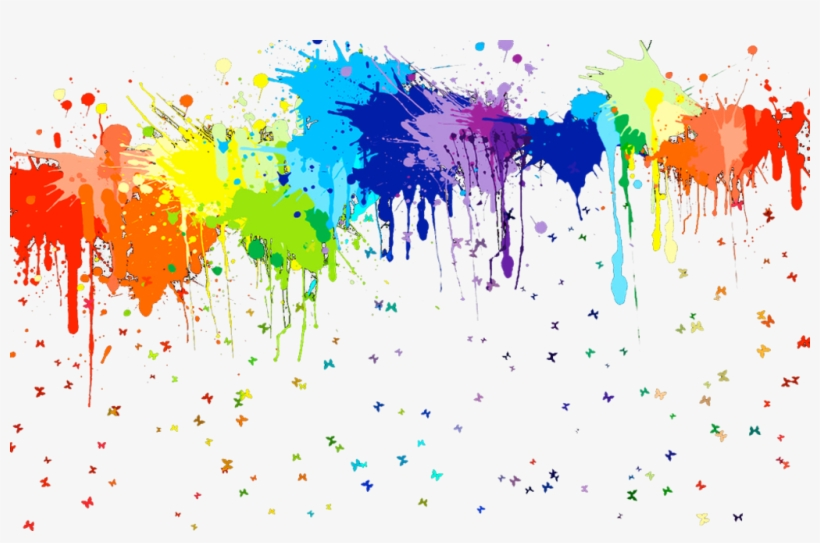 This Reminds Me Of Target Because They Have Stuff In - Rainbow Paint Splatter, transparent png #143232
