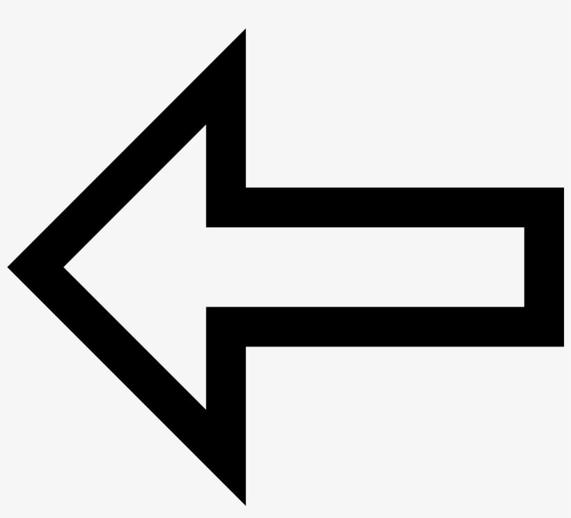 Arrows Transparent Outline - White Arrow Pointing Left Png, transparent png #143539
