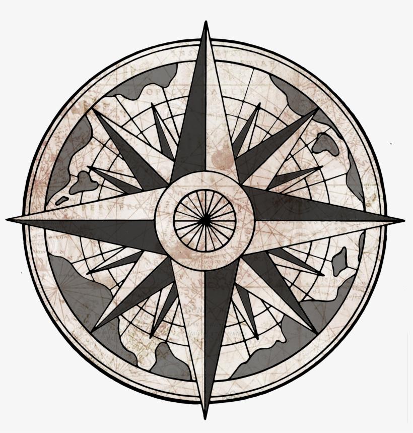 Rose Gm Info - Old Compass Drawing Transparent, transparent png #143762
