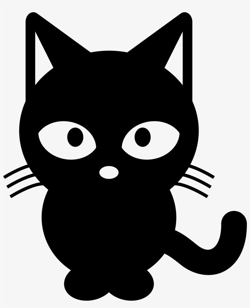 Cat Clipart Black And White Black Cat Cartoon Png Free Transparent Png Download Pngkey