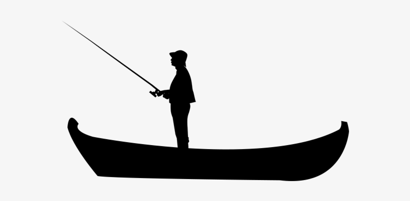 Boat Silhouette - Fishing, transparent png #144073