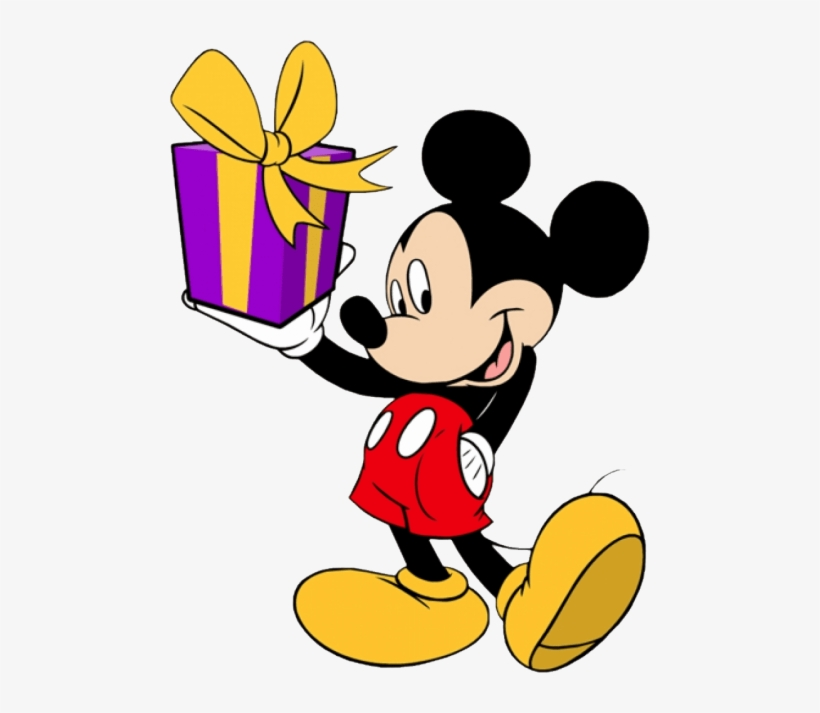 Free Png Mickey Mouse Png Images Transparent - Mickey Mouse With Gift, transparent png #144220