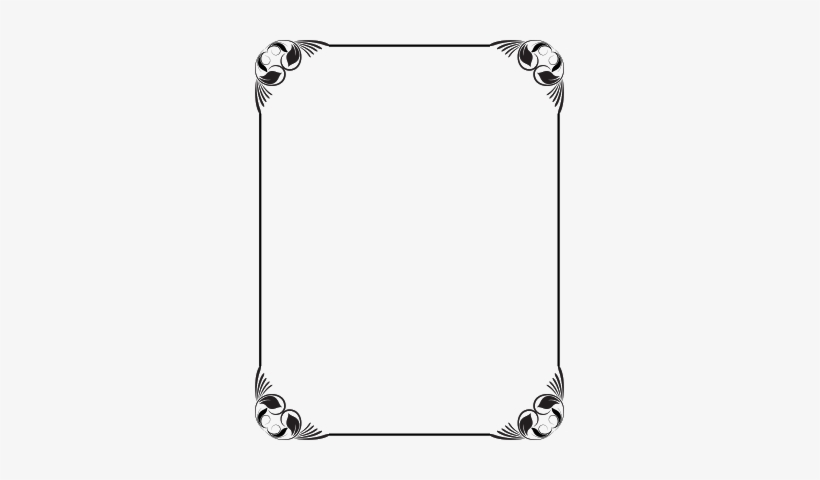 Black And White Frame Design Use In Corel Page Borders, - Frame Design Black And White, transparent png #144873