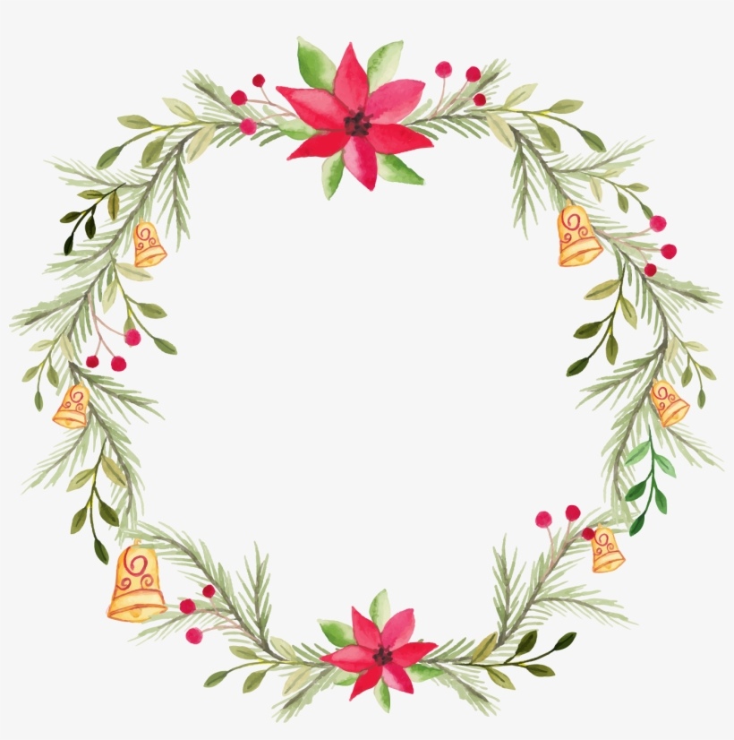 Clip Library Library Wreath Flower Painting Transprent - Holly Watercolor Png, transparent png #144943