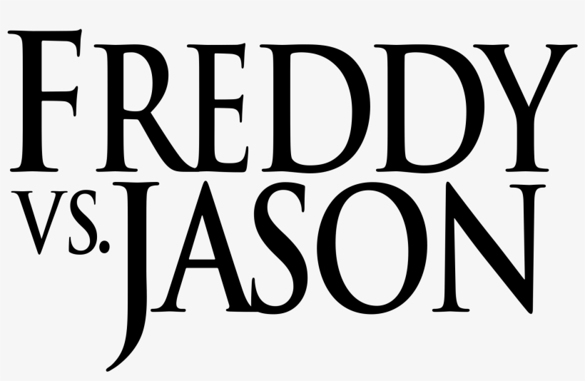 Clipart Black And White Stock Logo Png Svg Vector Freebie - Freddy Vs Jason Title, transparent png #145083
