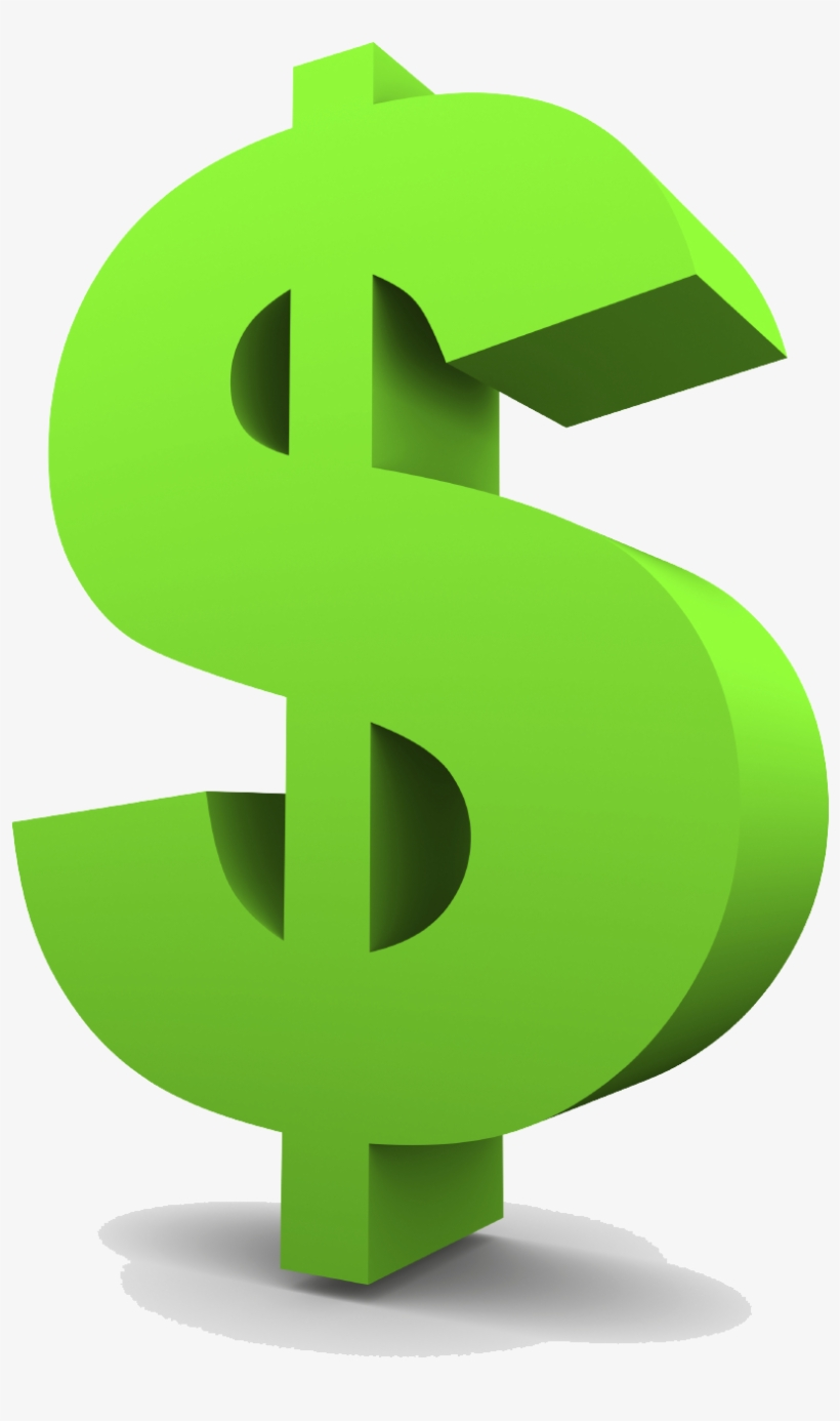 Green Dollar Symbol Png Clipart - Transparent Background