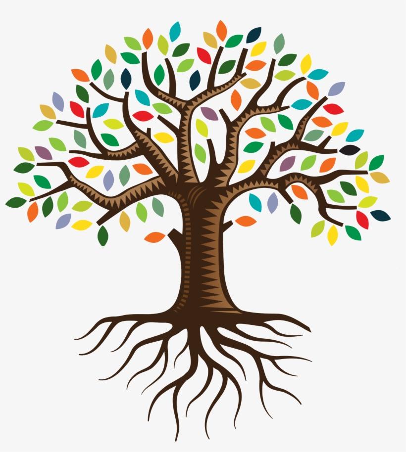 root qc family tree logo clip art