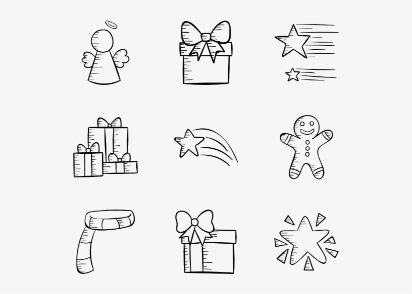 Christmas Hand Drawn - Christmas Hand Drawn Png, transparent png #146802