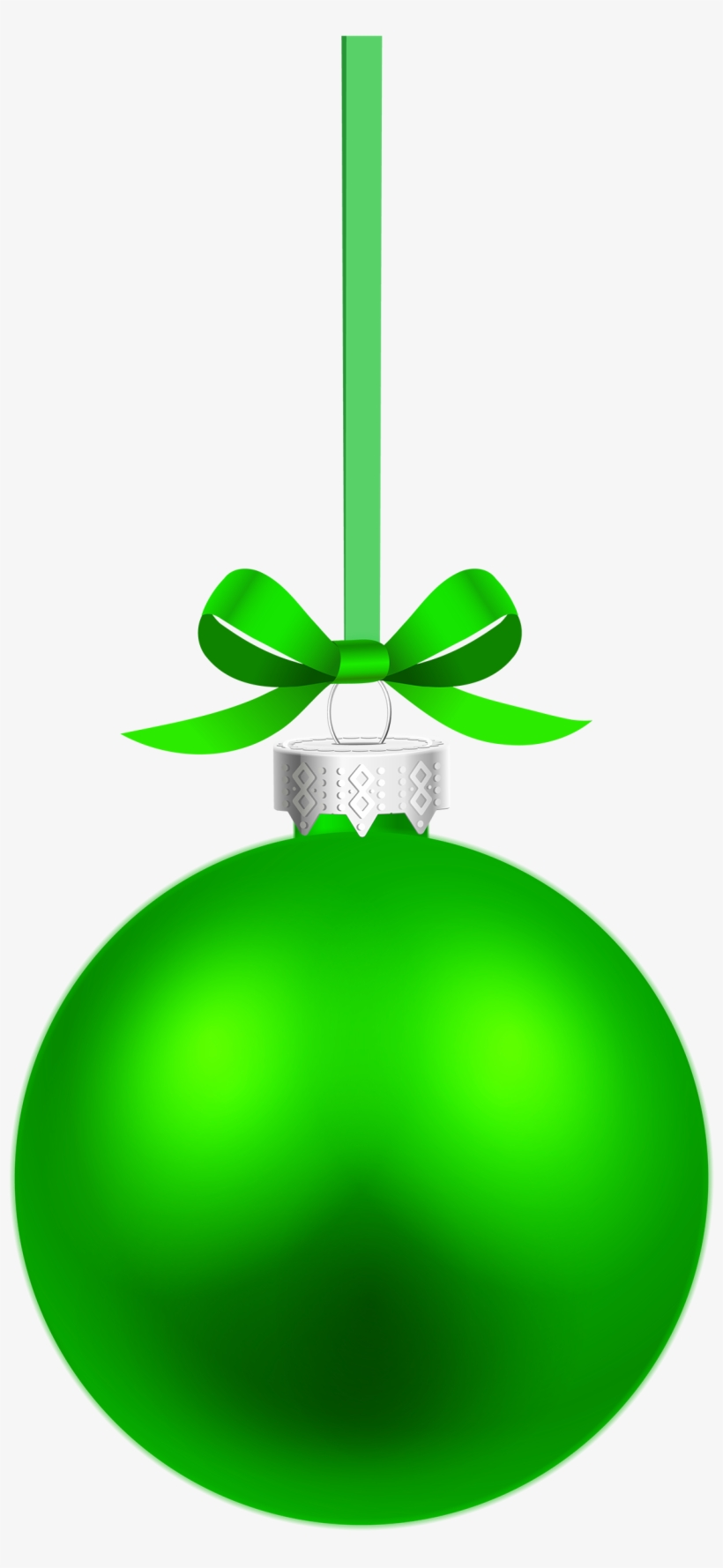 Green Hanging Christmas Ball Png Clipart - Green Christmas Ball Vector, transparent png #147327