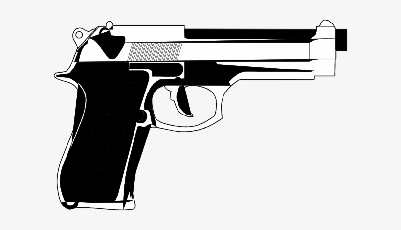 9mm Gun Tattoo Model - Hand Gun Cartoon, transparent png #147999