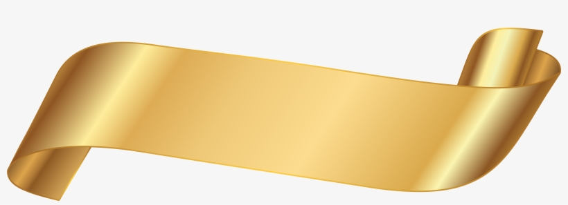 Gold Ribbon Banner Png, transparent png #148453