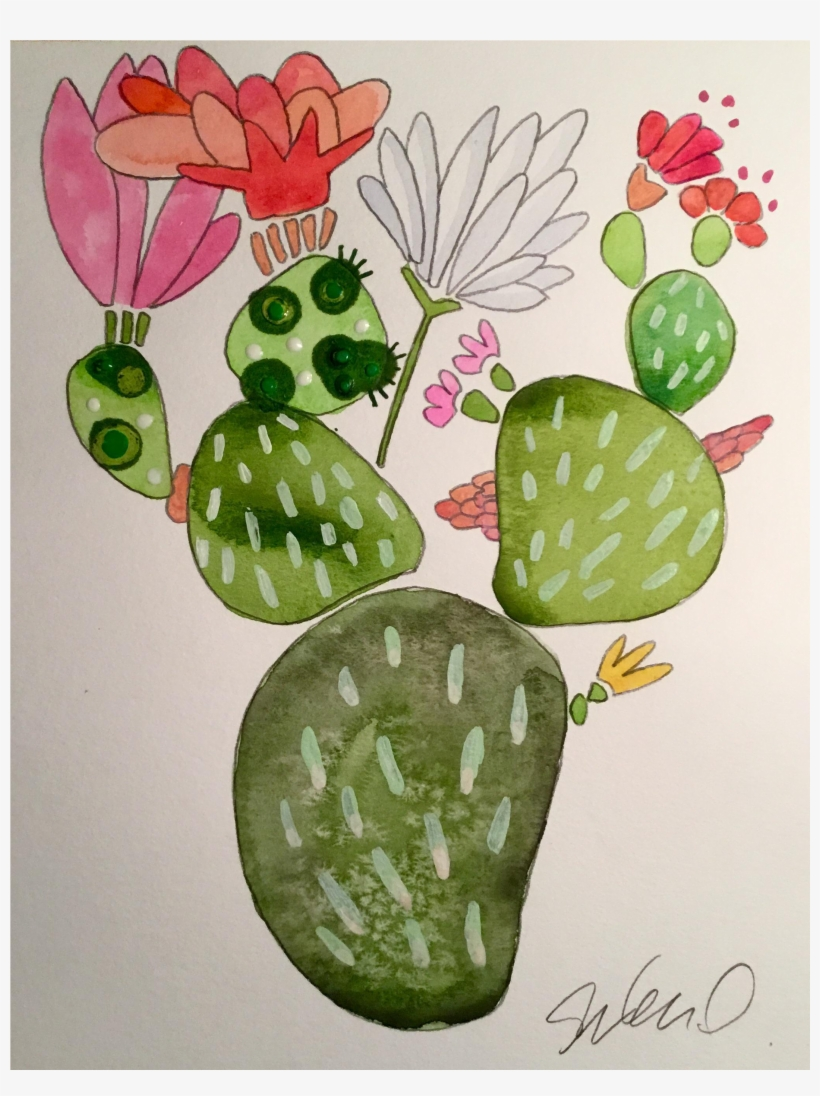 Cactus Water Color Png - Watercolor Painting, transparent png #149429