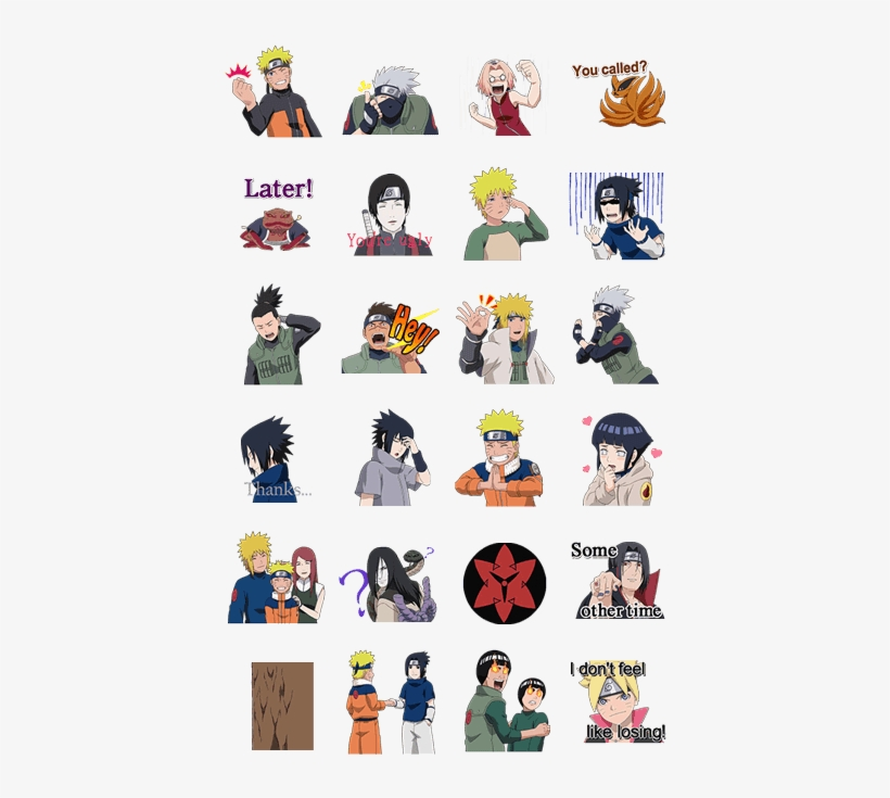 Animated Naruto Stickers Naruto Stickers Free Transparent Png Download Pngkey