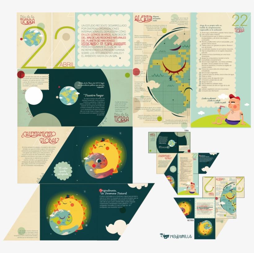Folleto Dia De La Tierra By Modismille Editorial Design, - Folletos Del Dia De La Tierra, transparent png #1400485