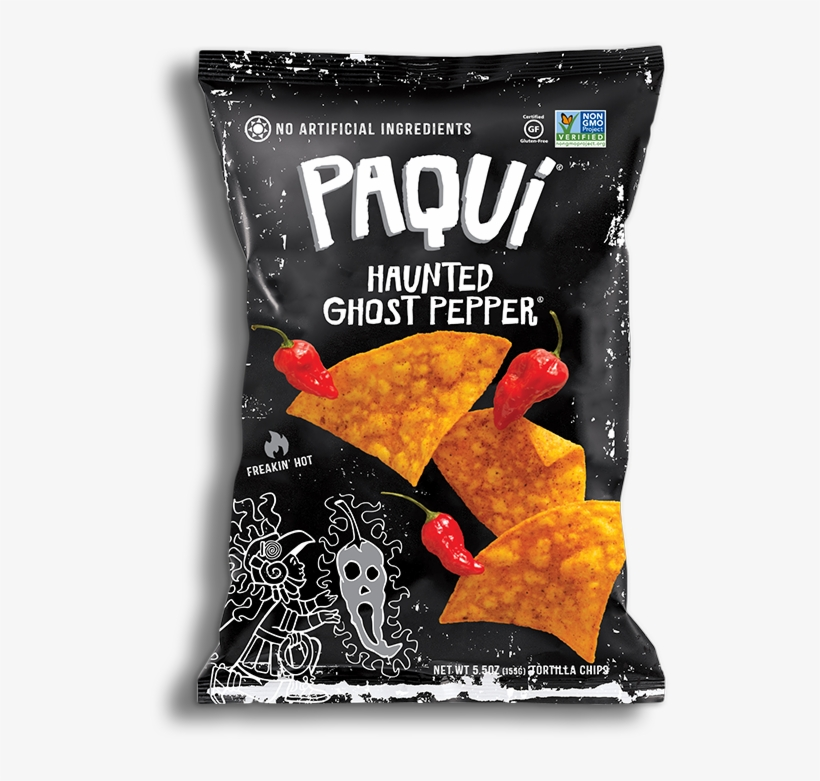 Callout Bag Lg - Paqui Haunted Ghost Pepper Chips, transparent png #1400741