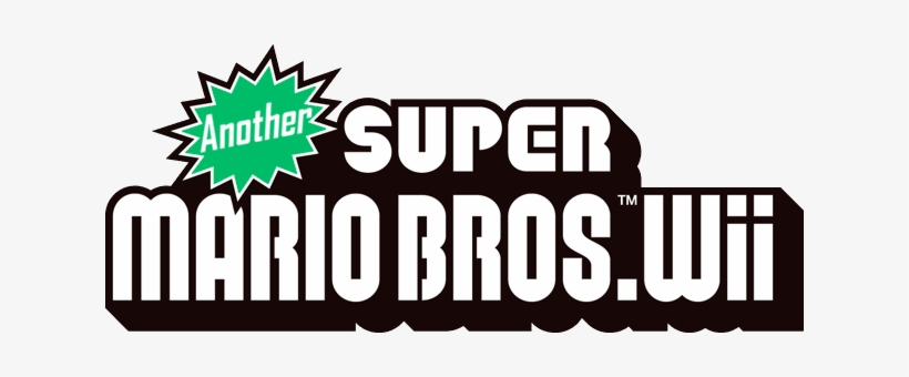 Another Smbw Logo - Logo New Super Mario Bros Wii, transparent png #1403607