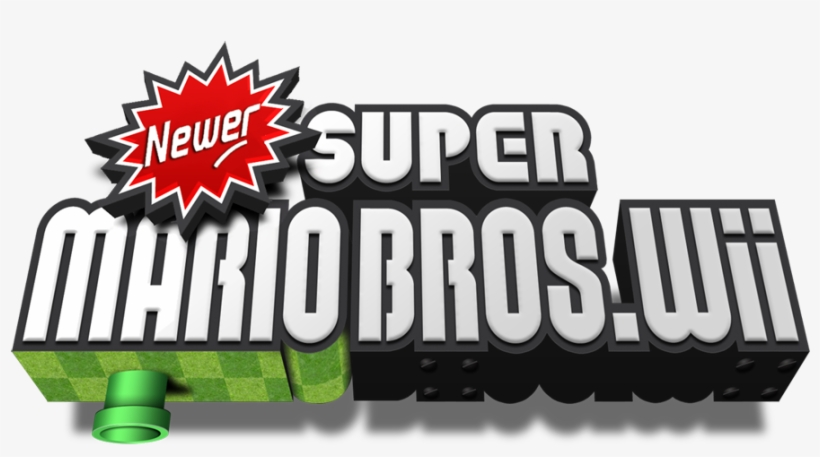 Newer Super Mario Bros - Newer Super Mario Bros Wii Logo, transparent png #1403690
