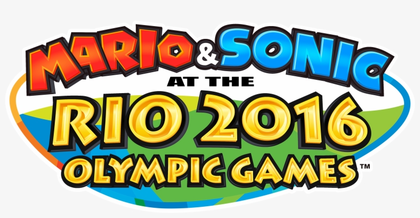 Mario And Sonic At The Rio 2016 Olympic Games Logo - Nintendo Mario & Sonic Olympic Games Rio2016 3ds, transparent png #1403835