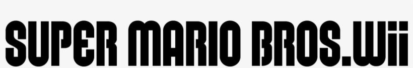 New Super Mario Bros - Super Mario Bros Font, transparent png #1403855