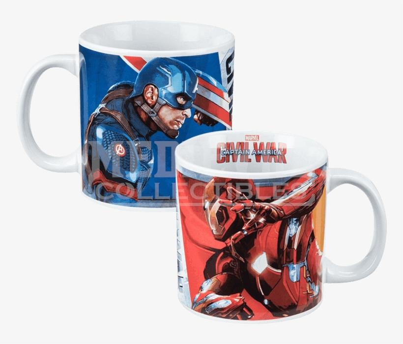 Captain America Civil War Ceramic Mug - Captain America: Civil War - Ceramic Mug, transparent png #1412212