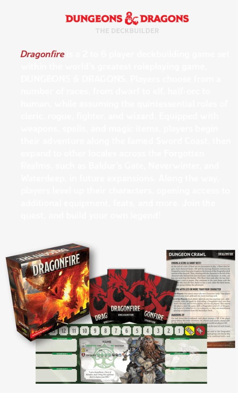 Dungeons & Dragons Dragonfire Deckbuilding Game Dungeons - Catalyst Game Labs Dragonfire Deck Building Card Game, transparent png #1414388
