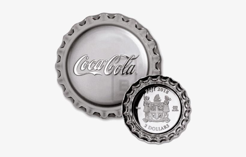 Silver Numis Fiji Coca-cola Bottle Cap Silver Proof - Coca Cola Bottle Cap Silver 1 Oz Proof Coin, transparent png #1415986