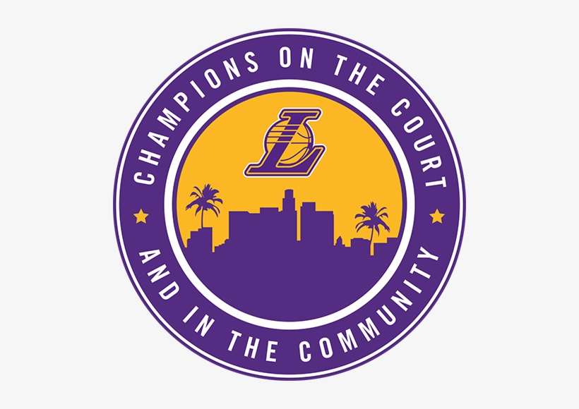 The Los Angeles Lakers Donate Thousands Of Tickets - Los Angeles Lakers Logo 2018, transparent png #1419149