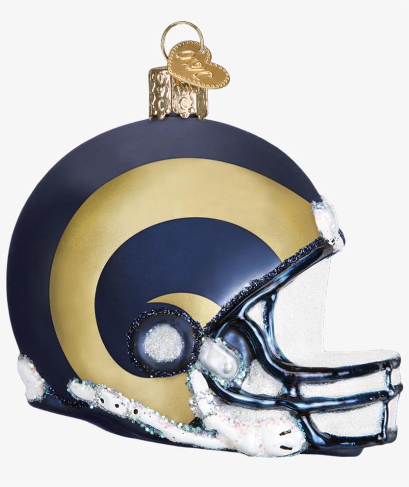 Los Angeles Rams Nfl Football Helmet Glass Ornament, transparent png #1419796