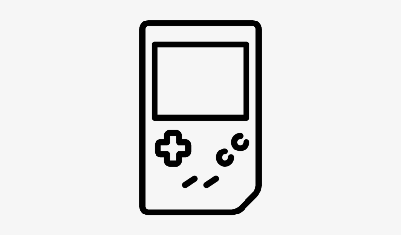 Old Gameboy Console Vector - Game Boy Outline, transparent png #1424723