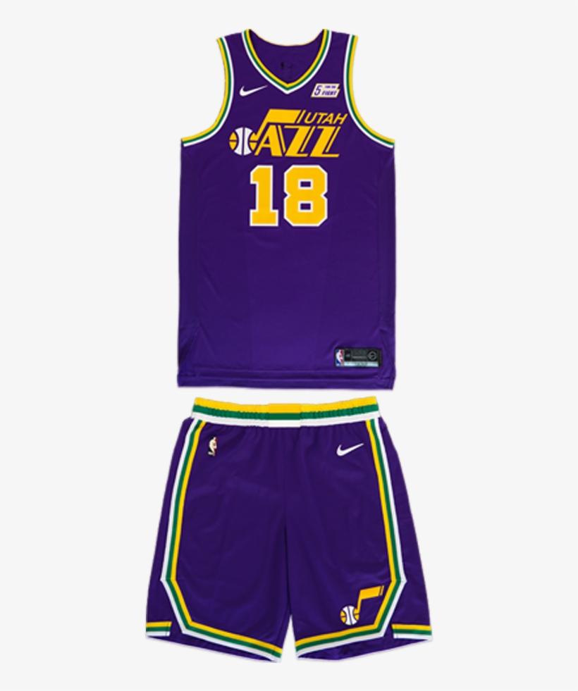 low priced 91aac a8169 Utah Jazz 40 Season Purple Throwback Uniform 2018-19 - Jazz ...