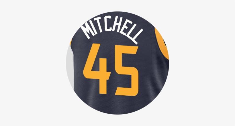 Utah Jazz Donovan Mitchell - Donovan Mitchell Jazz Jersey, transparent png #1425697