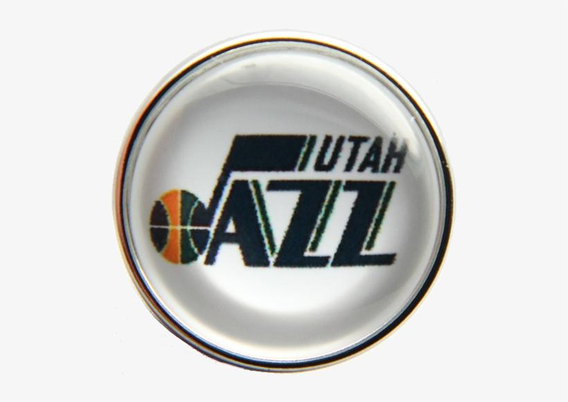 20mm Utah Jazz Nba Basketball Logo Snap Charm - Utah Jazz New Logo 2018, transparent png #1425768