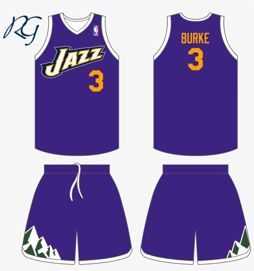 My Concept Idea For Jazz Alternate Uni's - Old Washington Wizards Jerseys, transparent png #1426216
