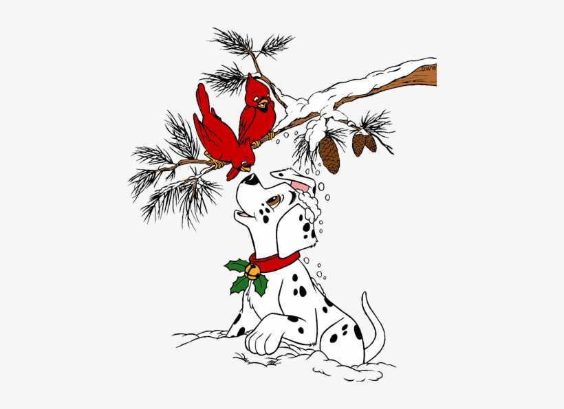 Graphic Transparent Download Christmas Cardinal Clipart 101 Dalmatians Christmas Family Free Transparent Png Download Pngkey