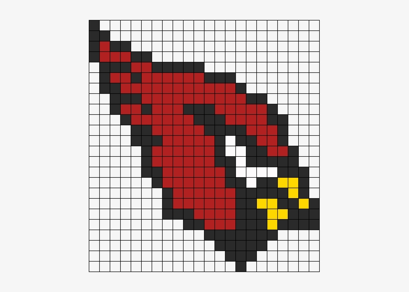 Arizona Cardinals Perler Perler Bead Pattern / Bead - Pixel Art Cardinals Logo, transparent png #1430681